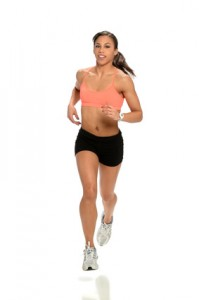 Young AFrican American Woman Runnning